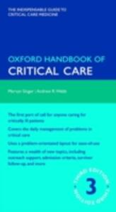 Oxford Handbook of Critical Care - Mervyn Singer,Andrew Webb - cover