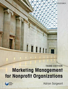 Marketing Management for Nonprofit Organizations - Adrian Sargeant - cover