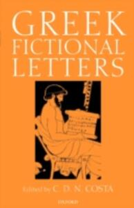 Greek Fictional Letters - C. D. N. Costa - cover