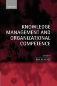 Knowledge Management and Organizational Competence - cover