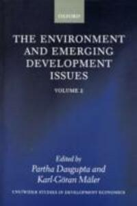 The Environment and Emerging Development Issues: Volume 2 - cover