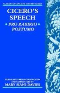 Cicero: Pro Rabirio Postumo - cover