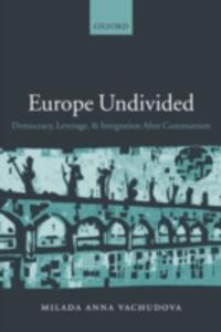 Europe Undivided: Democracy, Leverage, and Integration After Communism - Milada Anna Vachudova - cover