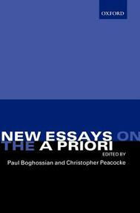 New Essays on the A Priori - cover