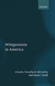 Wittgenstein in America - cover