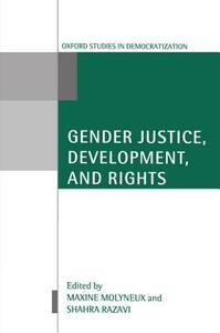 Gender Justice, Development, and Rights - cover