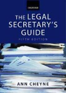 The Legal Secretary's Guide - Ann Cheyne - cover
