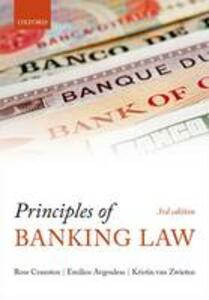 Principles of Banking Law - Ross Cranston - cover