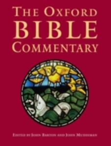 The Oxford Bible Commentary - cover