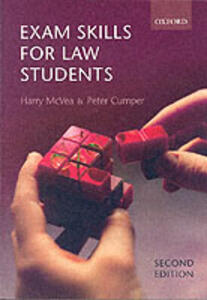 Exam Skills for Law Students - Harry McVea,Peter Cumper - cover