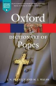 A Dictionary of Popes - J.N.D. Kelly,Michael J. Walsh - cover