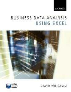 Business Data Analysis using Excel - David Whigham - cover