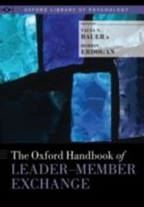Foto Cover di Oxford Handbook of Leader-Member Exchange, Ebook inglese di  edito da Oxford University Press