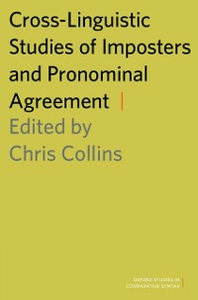 Ebook in inglese Cross-Linguistic Studies of Imposters and Pronominal Agreement -, -