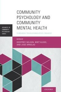 Ebook in inglese Community Psychology and Community Mental Health: Towards Transformative Change