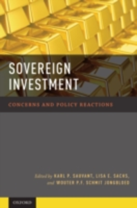 Ebook in inglese Sovereign Investment: Concerns and Policy Reactions Jongbloed, Wouter P.F. Schmit , Sachs, Lisa E. , Sauvant, Karl P.