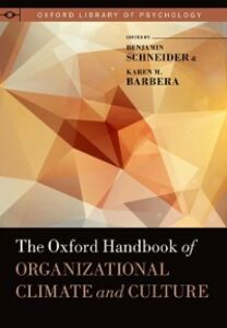 Foto Cover di Oxford Handbook of Organizational Climate and Culture, Ebook inglese di Karen M. Barbera, edito da Oxford University Press