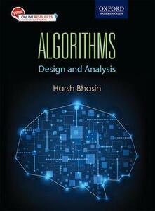 Algorithms: Design and Analysis - Harsh Bhasin - cover
