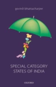 Special Category States of India - Govind Bhattacharjee - cover