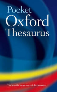 Pocket Oxford Thesaurus - Oxford Dictionaries - cover