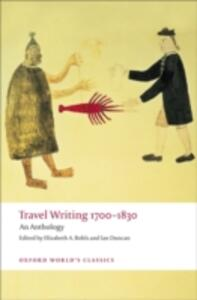 Travel Writing 1700-1830: An Anthology - cover