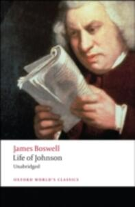 Life of Johnson - James Boswell - cover