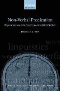 Nonverbal Predication: Copular Sentences at the Syntax-Semantics Interface - Isabelle Roy - cover