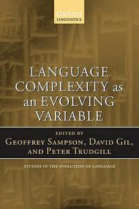 Language Complexity as an Evolving Variable - cover