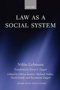Law as a Social System - Niklas Luhmann - cover