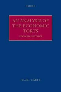 An Analysis of the Economic Torts - Hazel Carty - cover