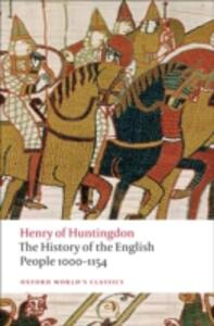 The History of the English People 1000-1154 - Henry of Huntingdon - cover