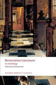 Restoration Literature: An Anthology - cover