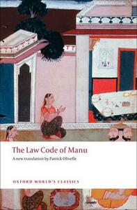 The Law Code of Manu - cover