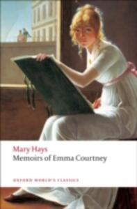 Memoirs of Emma Courtney - Mary Hays - cover