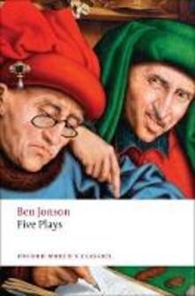 Five Plays - Ben Jonson - cover