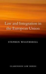 Law and Values in the European Union - Stephen Weatherill - cover