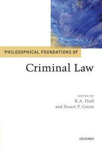 Philosophical Foundations of Criminal Law - cover