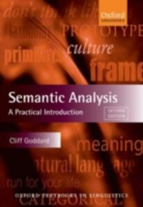 Semantic Analysis: A Practical Introduction - Cliff Goddard - cover