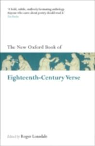 The New Oxford Book of Eighteenth-Century Verse: Reissue - cover