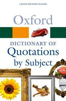 Oxford Dictionary of Quotations by Subject - cover