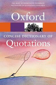Concise Oxford Dictionary of Quotations - cover