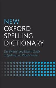 New Oxford Spelling Dictionary - cover
