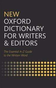 New Oxford Dictionary for Writers and Editors - cover