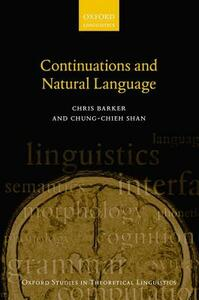 Continuations and Natural Language - Chris Barker,Chung-chieh Shan - cover