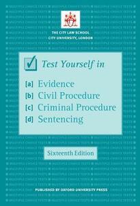 Test Yourself in Evidence, Civil Procedure, Criminal Procedure & Sentencing - The City Law School - cover