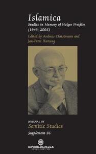 Islamica: Studies in memory of Holger Preissler (1943-2006) - cover