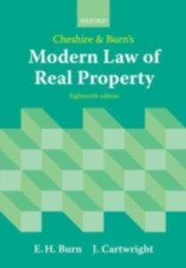 Cheshire and Burn's Modern Law of Real Property - Edward Burn,John Cartwright - cover