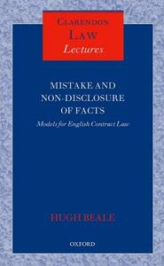 Mistake and Non-Disclosure of Fact: Models for English Contract Law - Hugh Beale - cover