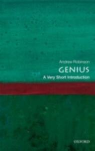Genius: A Very Short Introduction - Andrew Robinson - cover