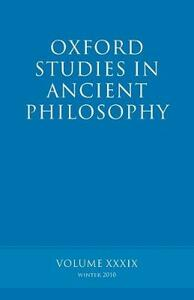 Oxford Studies in Ancient Philosophy volume 39 - cover